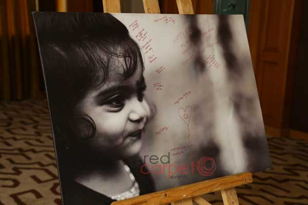 canvas signature board with print -Birthdays and Baptism planning by Red Carpet Events at Grand Hyatt kochi kerala India Wedding Planning Gallery