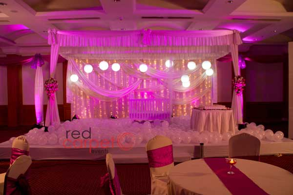 hanging Chinese lanterns decor -Birthdays and Baptism planning by Red Carpet Events at hotel radisson blu kochi kerala India Wedding Planning Gallery