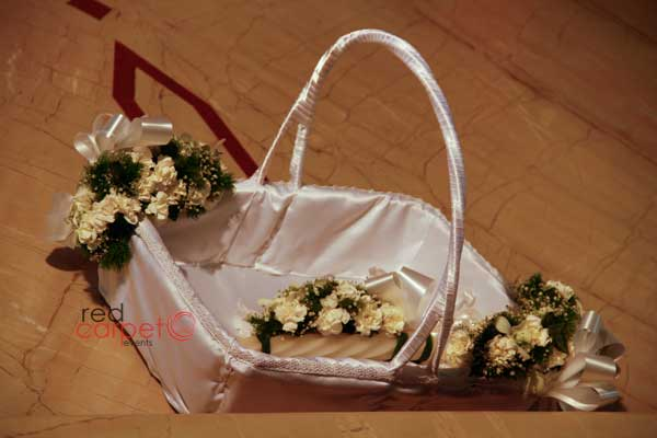 flower basket -Birthdays and Baptism planning by Red Carpet Events at hotel radisson blu kochi kerala India Wedding Planning Gallery