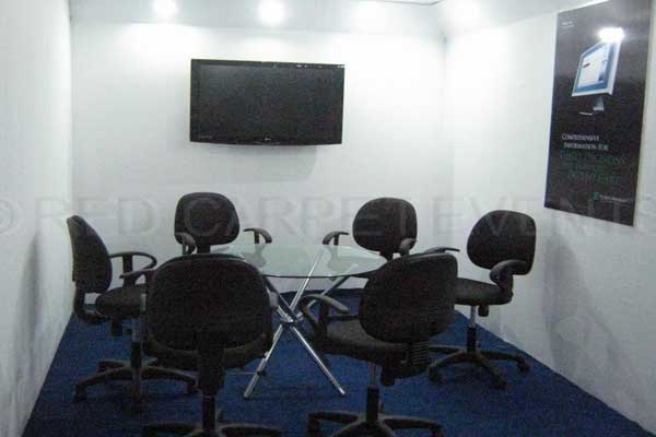 mini conference room Inside exhibition stall -MICE by Red Carpet Events at Le Meridian Kochi Kerala India Corporate Events Gallery