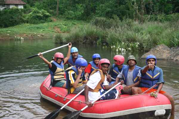 white water rafting -Team Building by Red Carpet Events at arayal resort Wayanad kerala India Corporate Events Gallery