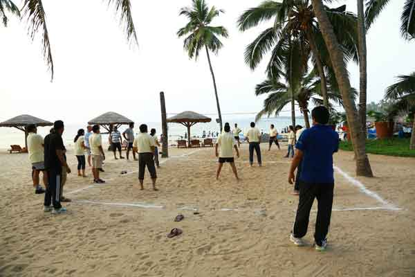 beach volley -Team Building by Red Carpet Events at marari beach resorts Alappuzha kerala India Corporate Events Gallery