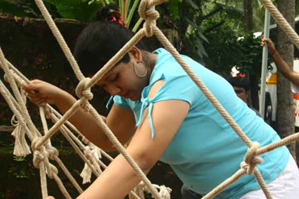 Rope climbing -Team Building by Red Carpet Events at vasundhara sarovar resort alappuzha kerala India Corporate Events Gallery