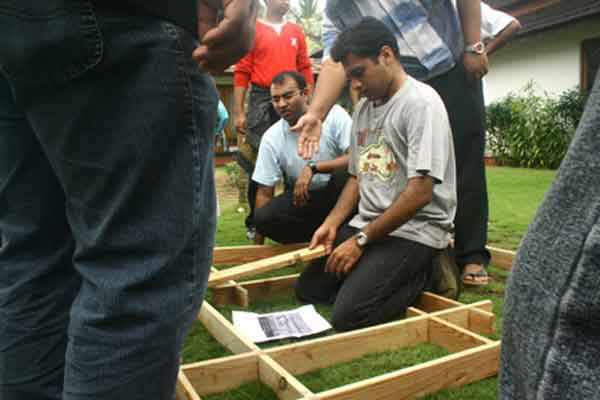 maze building -Team Building by Red Carpet Events at Hyatt Bolgatty Kochi kerala India Corporate Events Gallery