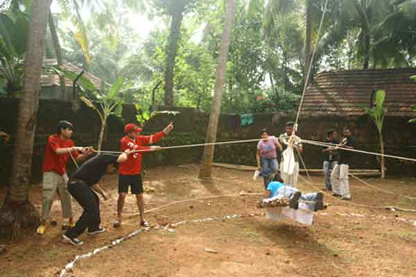 zip-line -Team Building by Red Carpet Events at Adventure park thenmala kerala India Corporate Events Gallery