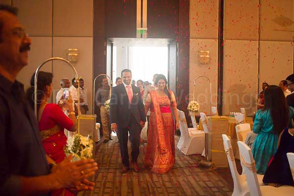 couple entry for betrothal -Christian wedding planning by Red Carpet Events at hotel crowne plaza kochi kerala India Wedding Planning Gallery