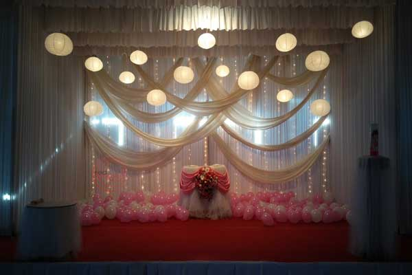 hanging lantern theme in pink & white