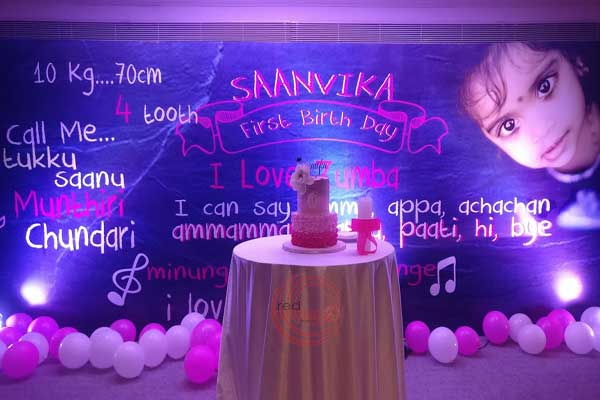 printed backdrop with writing -Birthdays and Baptism planning by Red Carpet Events at grand hyatt kochi kerala India Wedding Planning Gallery