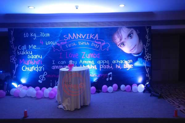 printed backdrop with baby photo -Birthdays and Baptism planning by Red Carpet Events at grand hyatt kochi kerala India Wedding Planning Gallery
