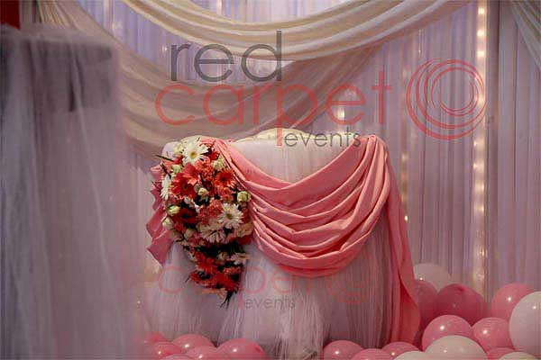 pink & white theme cake stand -Birthdays and Baptism planning by Red Carpet Events at adoor pathanamthitta kerala India Wedding Planning Gallery