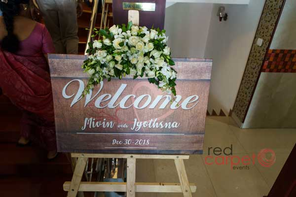 Welcome Board rustic theme