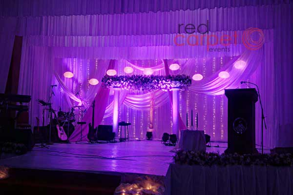 Pentecostal wedding purple theme decor
