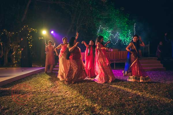 family dance sangeet night -Destination wedding by Red Carpet Events at punnamada resort alappuzha kerala India Wedding Planning Gallery
