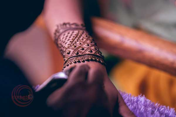 bride with mehndi -Destination wedding by Red Carpet Events at punnamada resort alappuzha kerala India Wedding Planning Gallery