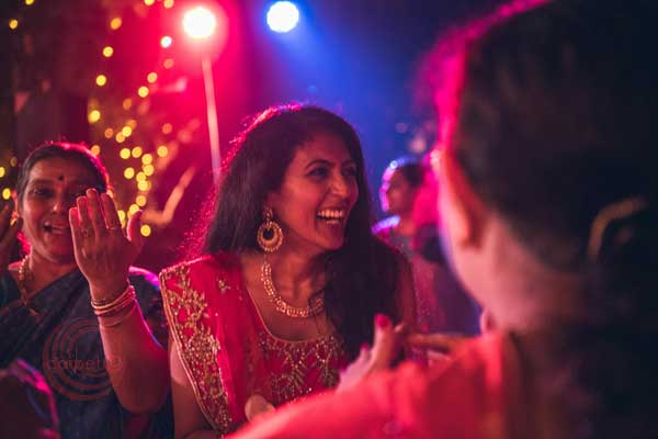 bride at the sangeet night -Destination wedding by Red Carpet Events at punnamada resort alappuzha kerala India Wedding Planning Gallery