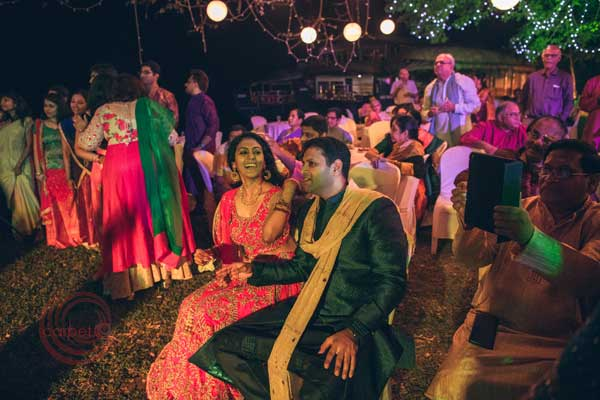 bride & groom iyer Nair sangeet night celebration -Destination wedding by Red Carpet Events at punnamada resort alappuzha kerala India Wedding Planning Gallery