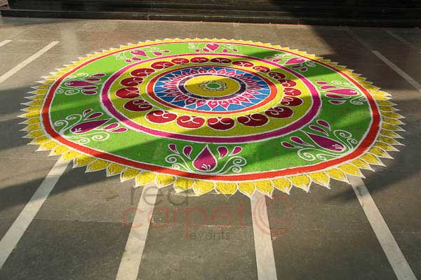 Welcome rangoli -Event Production by Red Carpet Events at Prem Mahal Karur Coimbatore India Corporate Events Gallery