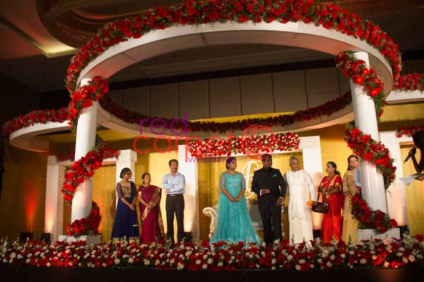 circular betrothal stage -Christian wedding planning by Red Carpet Events at Hotel crowne plaza kochi kerala India Wedding Planning Gallery