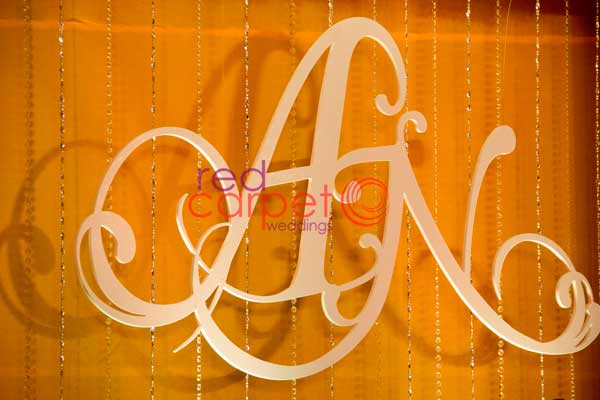 bride & groom initials cutout -Christian wedding planning by Red Carpet Events at Hotel crowne plaza kochi kerala India Wedding Planning Gallery