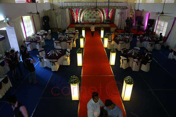 hall decor with lighted path way decor