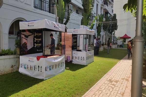 flat society Kiosk promotions