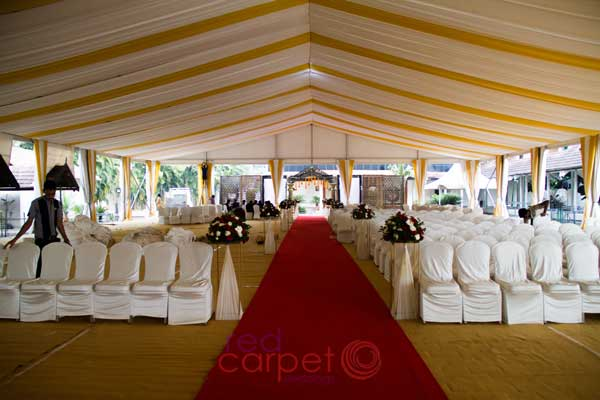 dome decor and path way carpeting
