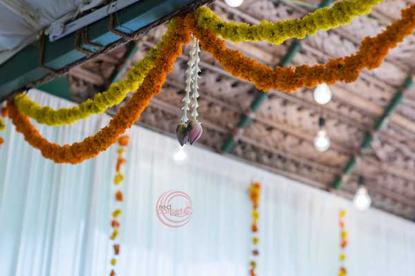 marigold floral scallop decor -shashtipoorthi by Red Carpet Events at coimbatore kochi kottayam kollam India Wedding Planning Gallery