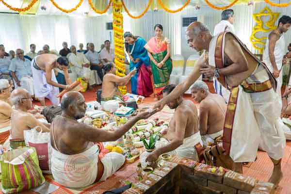 iyer rituals dakshina to priests -shashtipoorthi by Red Carpet Events at palakkad coimbatore kerala India Wedding Planning Gallery