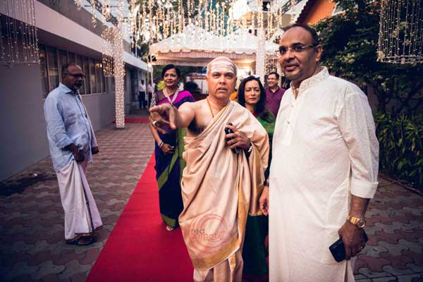 guests at red carpet with host -shashtipoorthi by Red Carpet Events at hotel indraprastha palakkad kerala India Wedding Planning Gallery