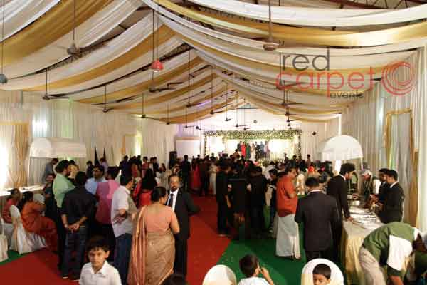 Dome ceiling decor with cloth -Christian wedding planning by Red Carpet Events at pala thiruvalla kottayam kerala India Wedding Planning Gallery