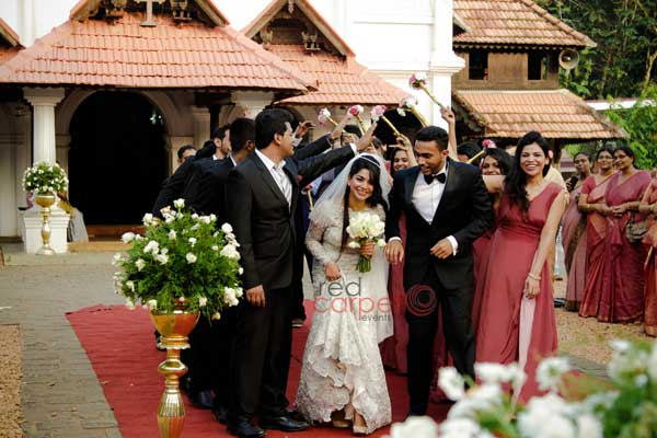 brides maids in frocks -Christian wedding planning by Red Carpet Events at thiruvalla pala kottayam kerala India Wedding Planning Gallery