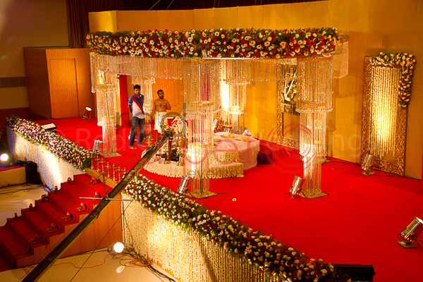 Camelot Convention Centre facilities: Hindu wedding crystal stage decor