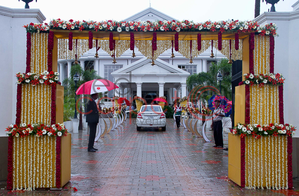 Camelot Convention Centre facilities: Hindu wedding entrance decor