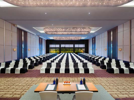 Hotel Crowne Plaza facilities: All three banquet halls combined view
