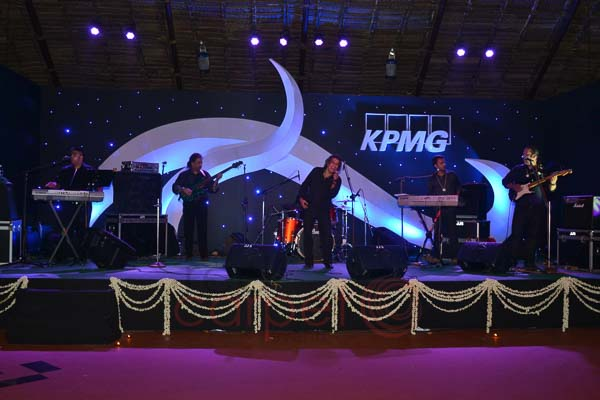 Hotel leela kovalam RGCC Pandal entertainment stage setup for KPMG meet.jpg