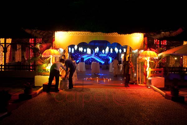 Hotel leela kovalam pandal entrance decor for corporate events.jpg