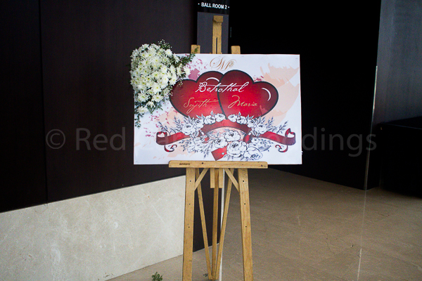 Hotel Crowne Plaza facilities: Welcome board for wedding at the lobby