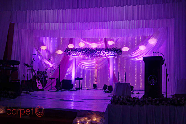 Christian Pentecostal wedding stage