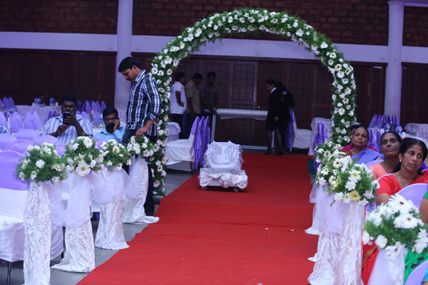 Entrance arch inside the venue