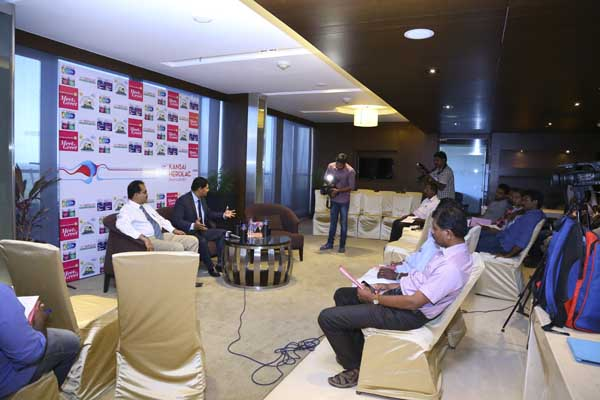 Hotel Crowne Plaza facilities: Press Meet organised at the coffee shop