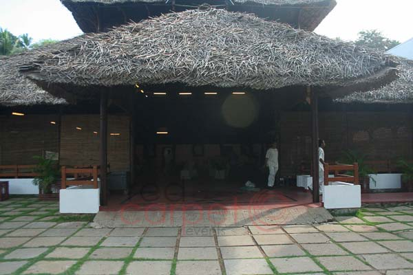 The Leela Raviz facilities: The panthal front view -entrance