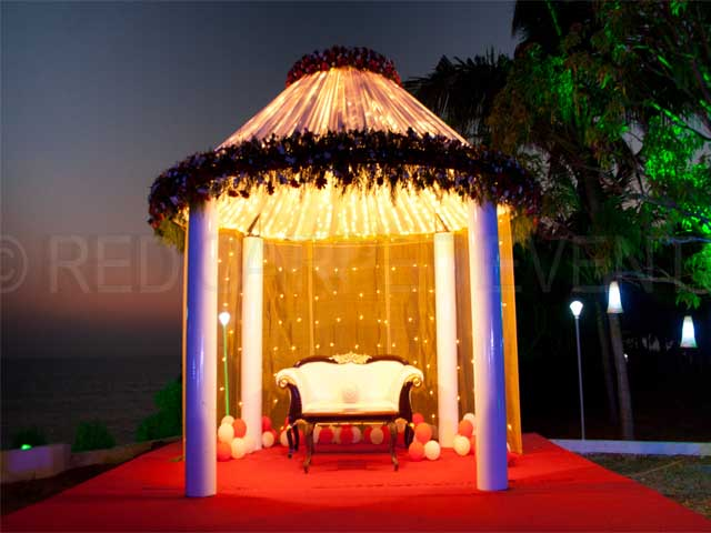 Vasava Cliff House KANNUR Beach wedding Lawn outdoor wedding Venue