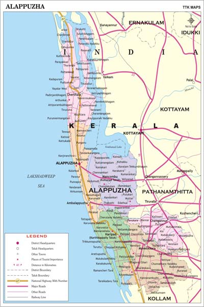ALAPPUZHA MAP