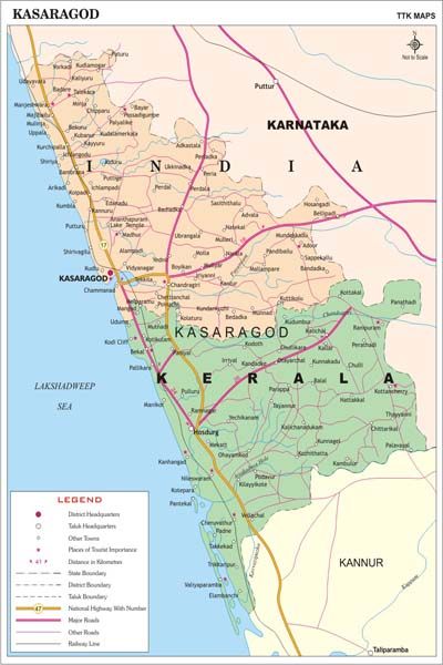 KASARGODE MAP
