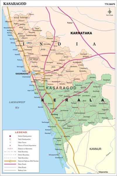 KASARGODE MAP