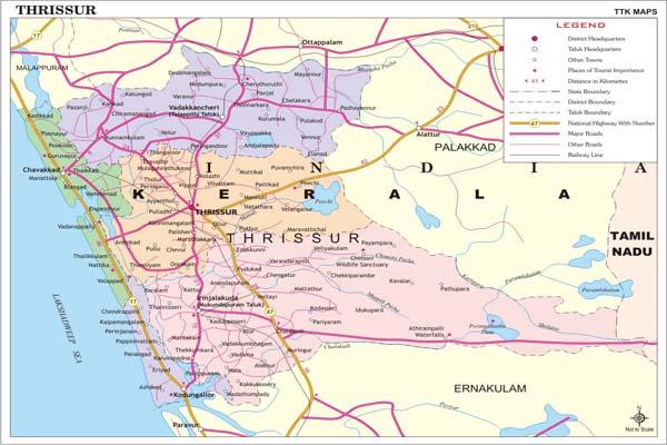 THRISSUR MAP